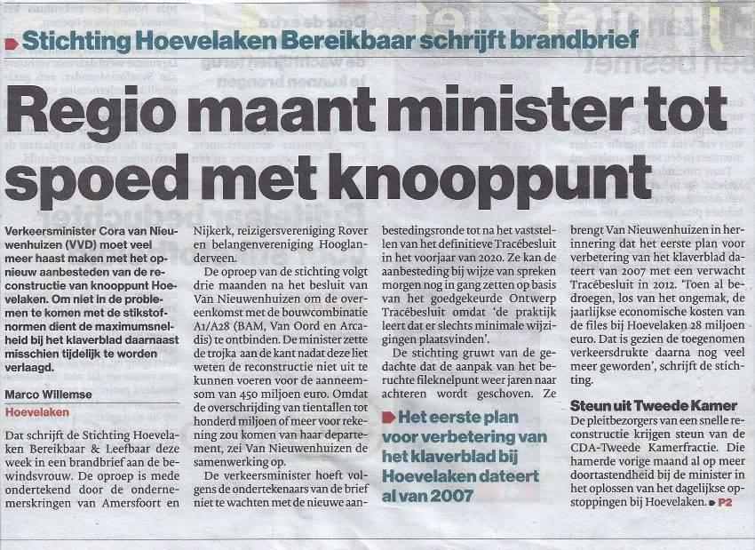 Regio maant minister tot actie